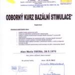 Certifikát - Bazální stimulace