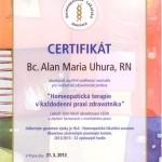Certifikát - Homeopatická terapie