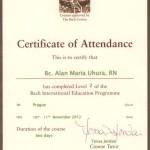 Certificate od Attendance L2